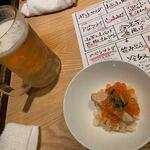 夜ノ焼魚 ちょーちょむすび - ビール!お通しははらこ飯!2020/10