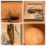 鮨 生粋 - メヒカリの焼き物・白子の茶碗蒸し