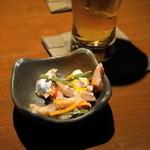 青柚子 - 2012.8 お通し(530円)の魚のマリネ