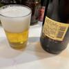 釜谷 - ドリンク写真:瓶ビールはサッポロラガービールの大瓶