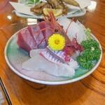 すし田村 - 目光定食の刺身