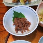 すし田村 - 定食に付く、しぐれ煮