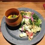 ワインショップ&ダイナー FUJIMARU - サラダ&スープ