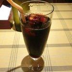 ビステッカ - 【'12/07/26撮影フッジローニ やわらかチキンとたっぷりチーズ 1000円 のアイスコーヒー
