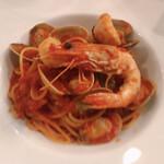 リトロボイルマーレジーナ - おまかせ 魚介のトマトソースパスタ