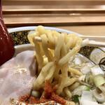 ラーメン凪 - ヤワに仕上げたこの太麺も美味しいな〜