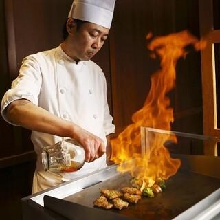 ◇人気の実演コーナー◇握り寿司&熱々のグリル料理&デザート