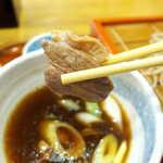銀座 長寿庵 - 埼玉県産の合鴨。肉の旨味と脂の甘みが感じられる。ねぎたっぷりなのも、私好み