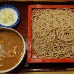 銀座 長寿庵 - 鴨カレーせいろ(¥1300)。ありそうでいて、実は珍しい一品