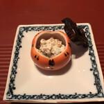 祇園迦陵 - しめじ、むかご、柿 白あえ