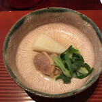 祇園迦陵 - 鴨と聖護院大根と九条ネギ炊き合わせ
