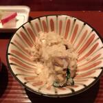 祇園迦陵 - かしわと九条ネギの炊き込み
