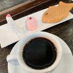 純喫茶 星港夜 - 濃いめを選びました。ティラミスも食べたかったなぁ。