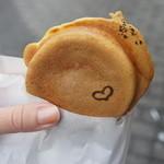 あずきや 安堂 - 濃い抹茶の白玉あずきのせ(160円)♥
