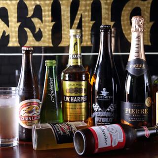 ビール各種ご用意ございます!平日ランチタイムはさらにお得に♪