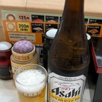 元禄寿司 - スーパードライ中瓶510円