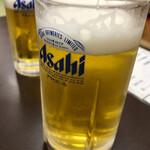 博多魚がし - 朝の生ビール