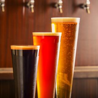 常時7種類の自社製造クラフトビールが魅力♪飲み比べも◎