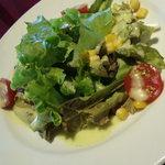 14185558 - サラダ。ドレッシングは美味しかった。