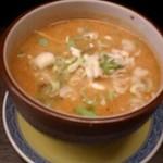 14185704 - ランチ:タンタンつけ麺のつけ汁は、濃厚胡麻スープ