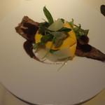 エパヌイ - アナゴの赤ワイン煮 チーズリゾット添え