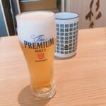鮨・酒・肴 杉玉 - 生ビール(ちび)