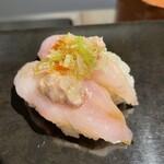 立ち食い弁慶 - 料理写真:皮はぎ肝のせ