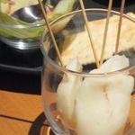しゃぶしゃぶ温野菜 - 『花畑牧場』の特製チーズ「カチョカヴァロ」。