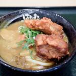 はなまるうどん - 唐揚げカレーうどん(カレーうどん+鶏の唐揚げ)