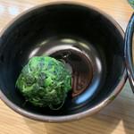 紫蔵 - ほうれん草増し 別皿 100円