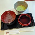 みのわ - 『くずきりと抹茶』1.400円(税込)