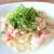 パスタ フレスカ ダンメン - 料理写真:自家製スモークサーモンのクリームパスタ 大葉添え