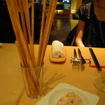 Trattoria VICINO - グリッシーニに生ハムのムースを添えて…