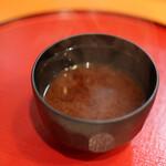 天ぷら 内山 - 赤出汁☆