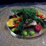 メルカート - アサゴチと夏野菜のグリル、バルサミコとハーブのソース
