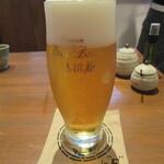手打ちそば むら季  - 生ビール