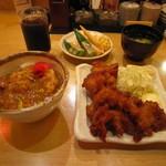 銀座 阿波おどり - 徳島産 彩鶏の唐揚げ定食 880円