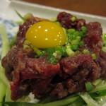 倭食処 かくれんぼ - さくらユッケ(1,260円)