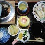 美味美園 天赦園 - 釜めし定食・松(釜めし・天婦羅・茶碗蒸し・小鉢・香物・吸物)1500円