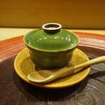 明日香 - 凌ぎ:茶碗蒸しの自家製湯葉刺身入り