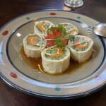 明治の館 - 湯葉と干瓢のサラダ
