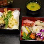 福ずし - 花にぎりと天ぷらセット