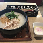 粥麺楽屋 喜々 - 鶏粥+温玉