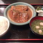 富水 - 鯖味噌煮定食1050円