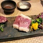 Kyoudoshukouaomoriya - 馬刺し4種盛り