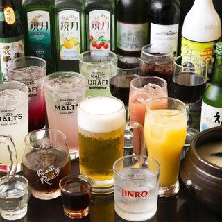 中国の伝統酒を始めとした豊富なドリンク類をご用意しております