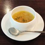 the soup - お魚ランチコース(1600円)スープ_ミネストローネ