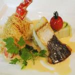 the soup - お魚ランチコース(1600円)メインアップ