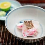 緒方 - 明石の鯛、 酢橘、お塩、山葵