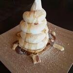 港屋珈琲 - くるくるソフトクリームパフェしぇるとるて(きなこ)※あられと小豆と白玉なし